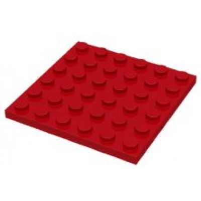 LEGO 6 x 6 Plate Red