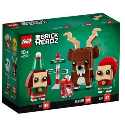 LEGO® BrickHeadz™ Reindeer, Elf and Elfie 40353