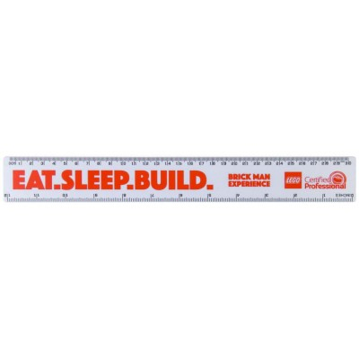 BRICK MAN EXPERIENCE EAT SLEEP BUILD Ruler