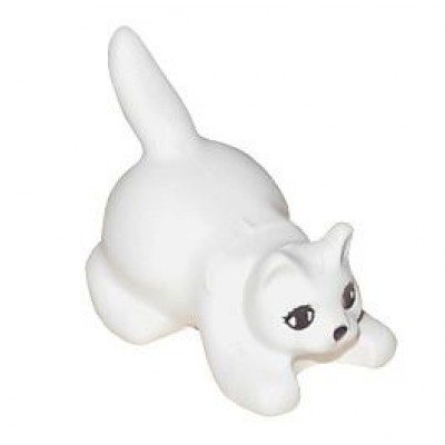 LEGO Cat White Crouching