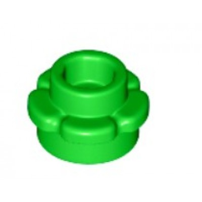 LEGO Flower Plate (5 Petals) Bright Green