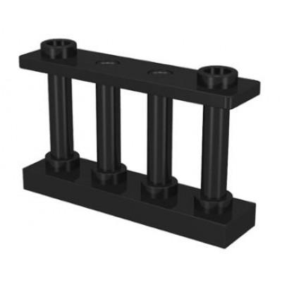 LEGO Fence Spindled (Black)