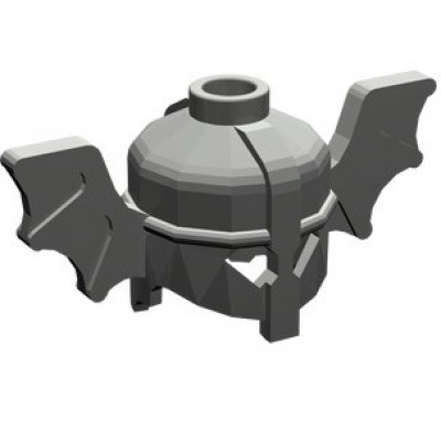 LEGO Minifigure Helmet with Bat Wings - Dark Grey