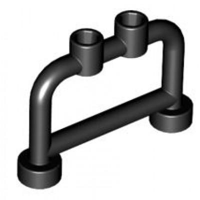 LEGO Fence Bar (Black) 1 x 4 x 2 with studs