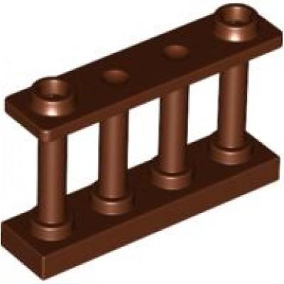 LEGO Fence Spindled (Reddish Brown)