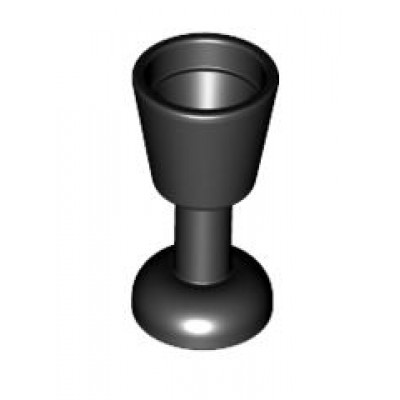 LEGO Wine Glass / Goblet (Black)