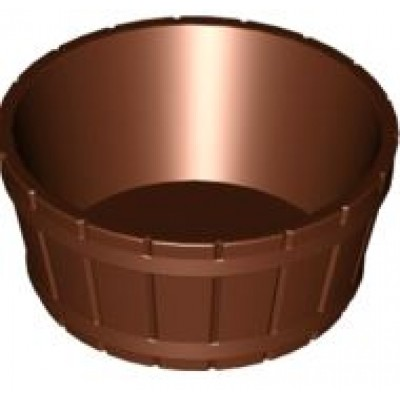 LEGO Barrel Half Large with Axle Hole - Reddish Brown