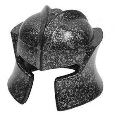 LEGO Minifigure Helmet - Castle Speckle Black-Silver