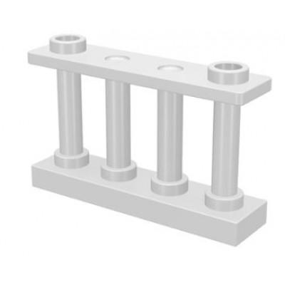 LEGO Fence Spindled (White)