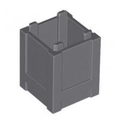LEGO Container 2x2x2 (Dark Bluish Grey)