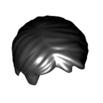 LEGO Minifigure Hair Short Tousled with Side Part - Black