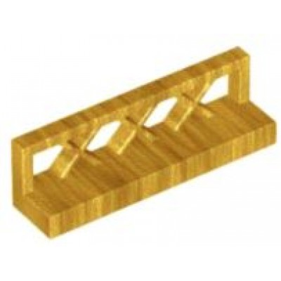 LEGO Fence Low (Pearl Gold)