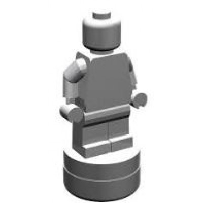 LEGO Trophy Minifig Statuette (SILVER)