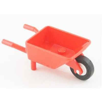 LEGO Wheelbarrow complete (Red)