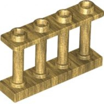 LEGO Fence Spindled (Pearl Gold)