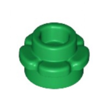 LEGO Flower Plate (5 Petals) Green