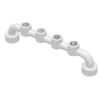 LEGO Fence Bar (White) 1 x 6 with studs open