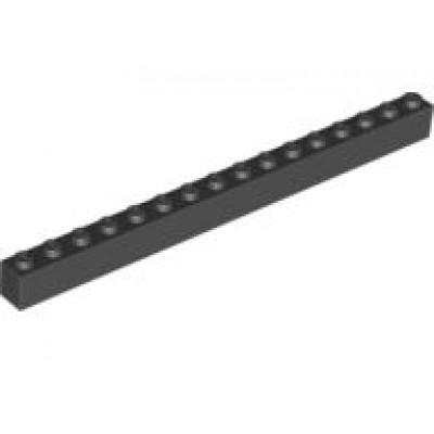 LEGO 1 x 16 Brick Black