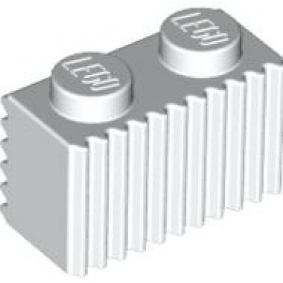 LEGO 1 x 2 Brick with Grille (White)
