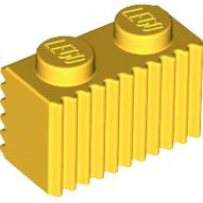 LEGO 1 x 2 Brick with Grille (Yellow)