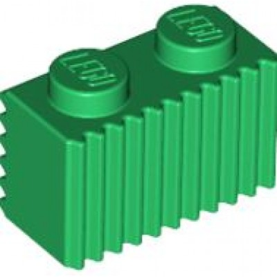 LEGO 1 x 2 Brick with Grille (Green)