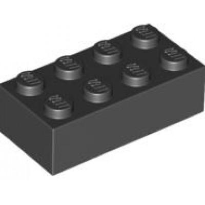 LEGO 2 x 4 Brick Black