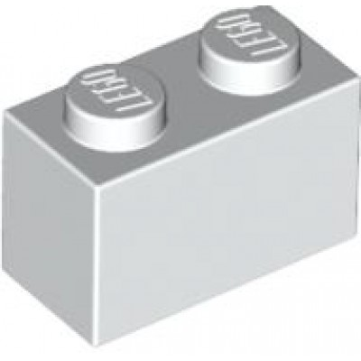 LEGO 1 x 2 Brick White