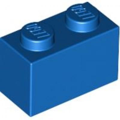 LEGO 1 x 2 Brick Blue