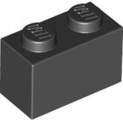 LEGO 1 x 2 Brick Black