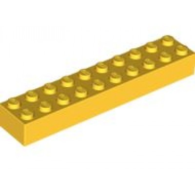 LEGO 2 x 10 Brick Yellow