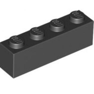 LEGO 1 x 4 Brick Black