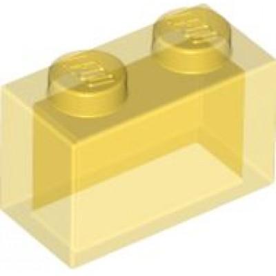 LEGO 1 x 2 Brick Transparent Yellow
