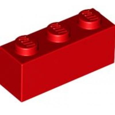 LEGO 1 x 3 Brick Red