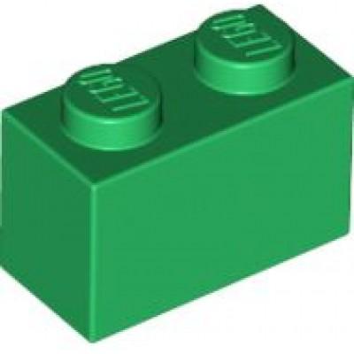 LEGO 1 x 2 Brick Green