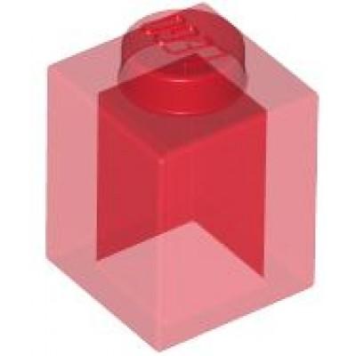 LEGO 1 x 1 Brick Transparent Red