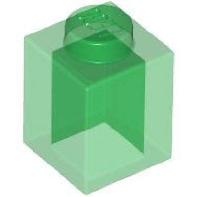 LEGO 1 x 1 Brick Transparent Green