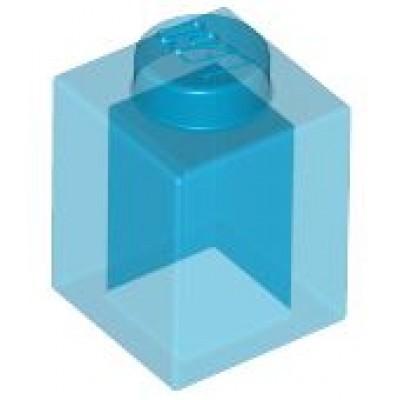 LEGO 1 x 1 Brick Transparent Dark Blue