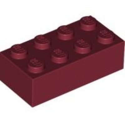 LEGO 2 x 4 Brick Dark Red