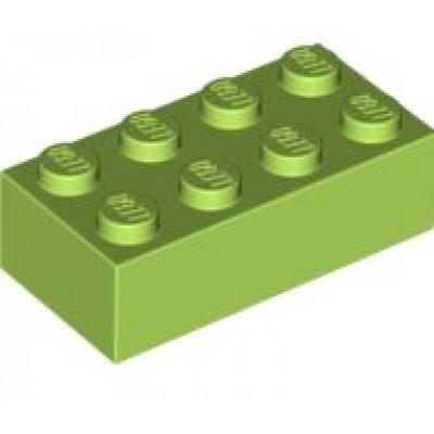 LEGO 2 x 4 Brick Lime