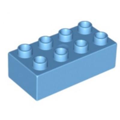 2 x 4 DUPLO Brick Medium Blue