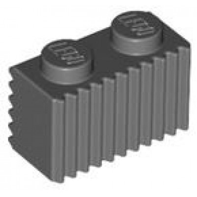 LEGO 1 x 2 Brick with Grille (Dark Bluish Gray)