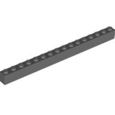 LEGO 1 x 16 Brick Dark Bluish Grey