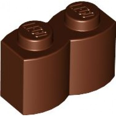 LEGO 1 x 2 Brick - Modified Log Reddish Brown