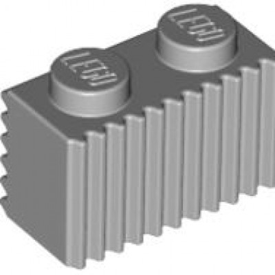 LEGO 1 x 2 Brick with Grille (Light Bluish Gray)