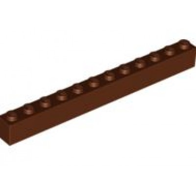 LEGO 1 x 12 Brick Reddish Brown
