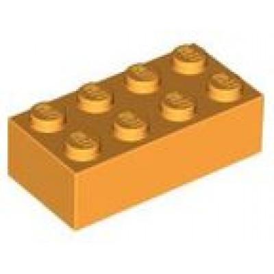 LEGO 2 x 4 Brick Bright Light Orange