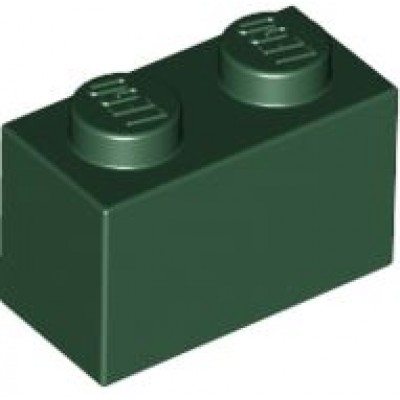 LEGO 1 x 2 Brick Dark Green