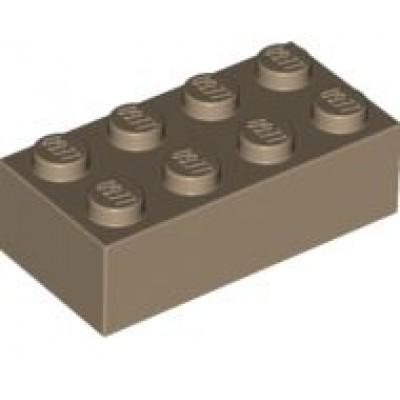 LEGO 2 x 4 Brick Dark Tan