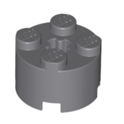 LEGO 2 x 2 Round Brick (Dark Bluish Grey)