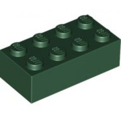 LEGO 2 x 4 Brick Dark Green